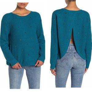 Wildfox Erika Star Studded Knit Sweater